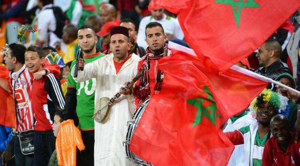 Morocco's fans and supporters during the 2013 Africa Cup of Nations soccer match, Angola Vs Morocco at National stadium in Johannesburg on January 19, 2013. Photo by Christian Liewig/NCI/ABACAPRESS.COM